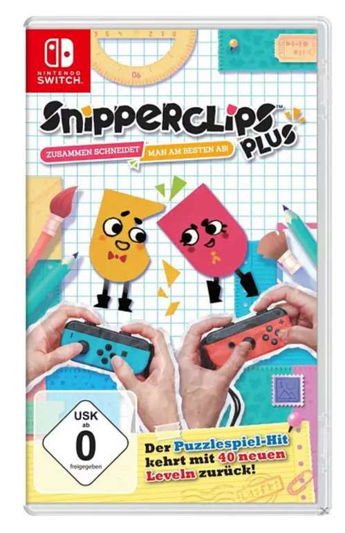Snipperclips - Zusammen schneidet man am besten ab! (Nintendo Switch) für 22,78€inkl. Versand (statt 26€)