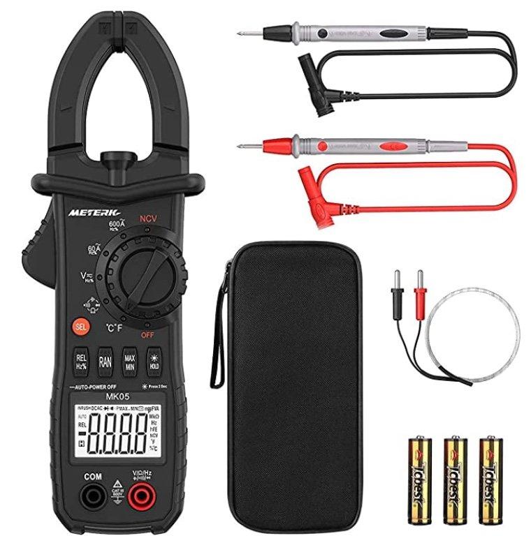 Meterk Clamp Meter Zangenmessgerät (Multimeter für AC/DC Spannung) für 18,99€ inkl. Prime (statt 27€)