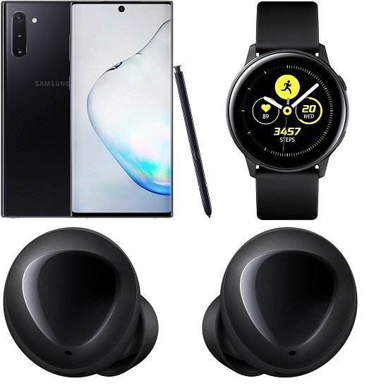 Knaller! Samsung Galaxy Note 10 + Watch Active + Galaxy Buds inkl. Telekom 6GB LTE Allnet-Flat für 26,99€ mtl.