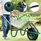 Juskys Garden Schubkarre (100 Liter, 250 kg Traglast, verzinkte Wanne) für 39,95€ inkl. Versand (statt 50€)