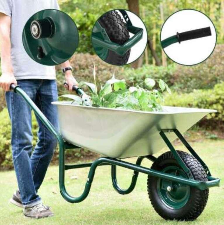 Juskys Garden Schubkarre (100 Liter, 250 kg Traglast, verzinkte Wanne) für 48,90€ inkl. Versand (statt 65€)