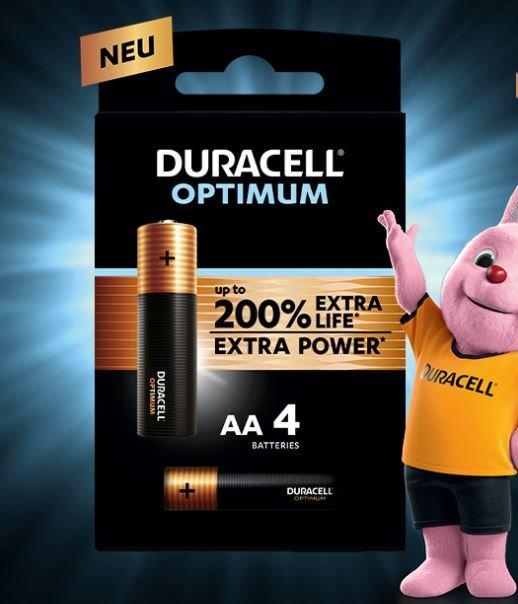 Duracell Optimum Batterien im 4er-Pack gratis testen dank Geld-zurück-Garantie