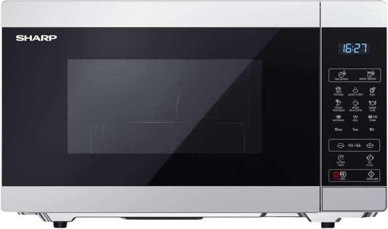 Sharp YC-MG51ES Mikrowelle (900 Watt, Grillfunktion, 25L) für 73,98€ inkl. Versand (statt 96€)