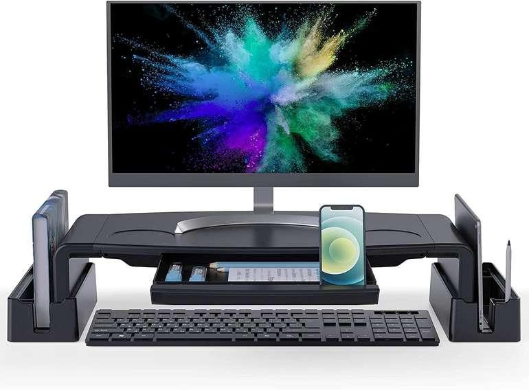 COKWEL höhenverstellbarer Monitorständer mit Aufbewahrungsbox für 16,28€ inkl. Versand (statt 34€)