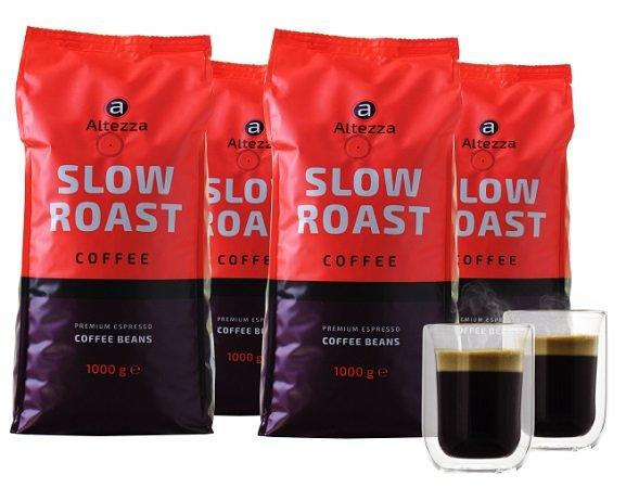 4kg Altezza Slow Roast Kaffeebohnen + 2 Gläser für 29,99€ inkl. Versand