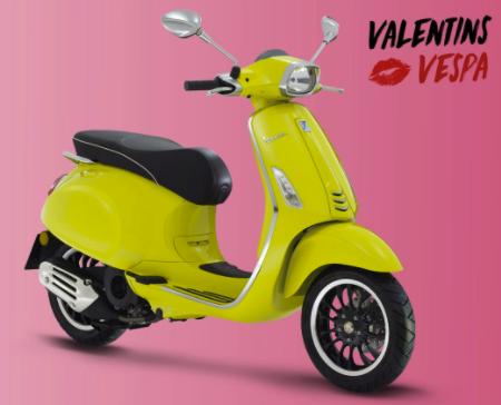 Privatleasing zum Valentinstag: Vespa Sprint 50 oder Primavera 50 für 29€ mtl. (inkl. Haustürlieferung oder Helm) - Bereitstellungsgebühr: 99€