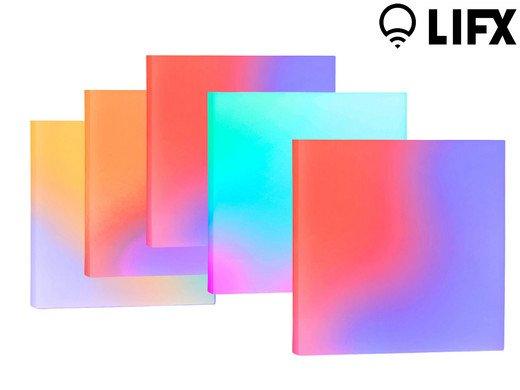 LIFX Tile Kit L3TILEKITIN mit 5 smarten LED-Panels für 135,90€ (statt 254€)