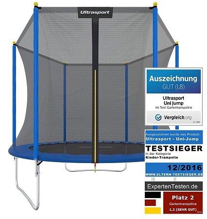 Ultrasport Uni-Jump Trampolin 244 cm mit Sicherheitsnetz für 79,99€