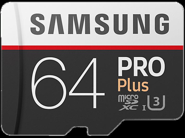 Samsung microSDXC Speicherkarte Pro Plus mit 64GB für 25€ (statt 35€)