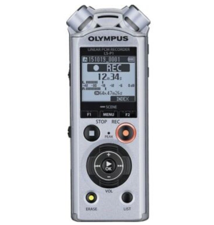 Olympus LS-P1 - Mobiler Audio-Recorder (Stereo mit 4GB Speicher, 40h Laufzeit mit 1x AAA) für 89,99€