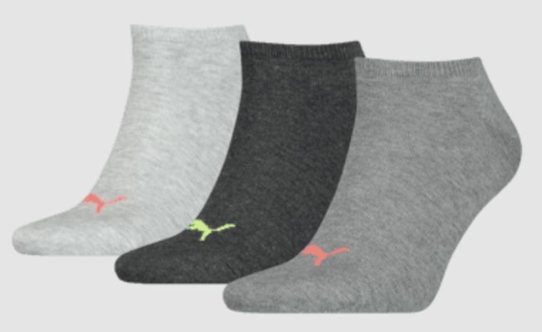 Puma Socken Sneaker Plain (30 Paar) in Grau für 37,95€ inkl. Versand (statt 50€)