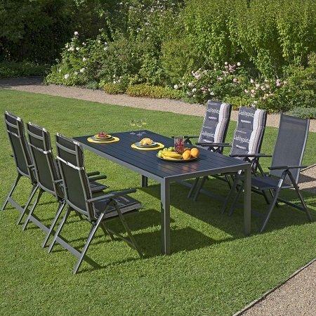 Aluminium Gartenmobel Set Las Vegas 6 Stuhle Tisch Fur