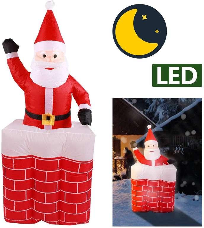 Vingo: Verschiedene aufblasbare LED Weihnachtsfiguren mit 30% Rabatt, z.B. Weihnachtsmann XL für 38,49€