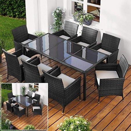 Brast Poly Rattan Sitzgarnitur (6 Stühle + Tisch) für 296,10€ (+ 2 Stühle: 332€)