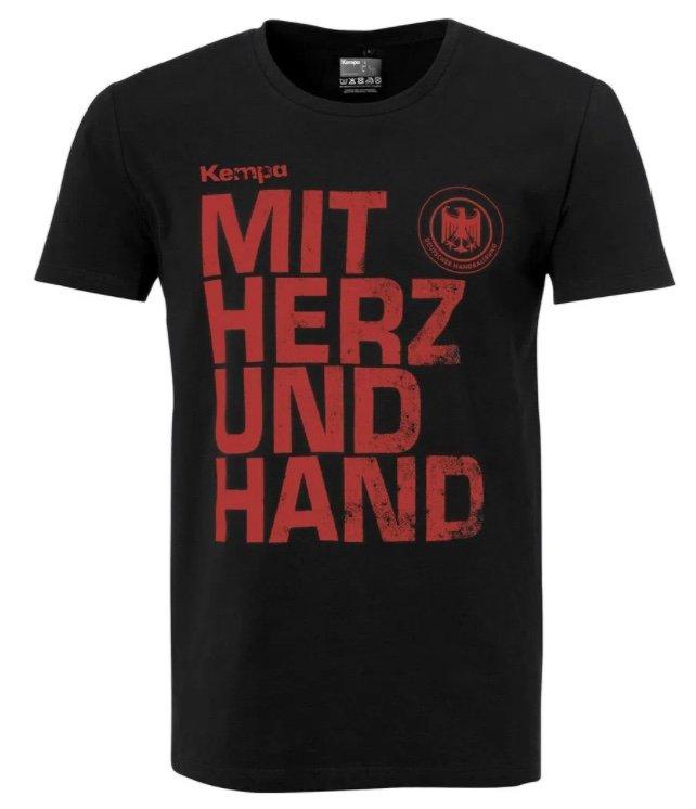 """DHB Deutschland Kempa """"Mit Herz und Hand"""" Herren T-Shirt für 8,94€ inkl. Versand (statt 25€)"""