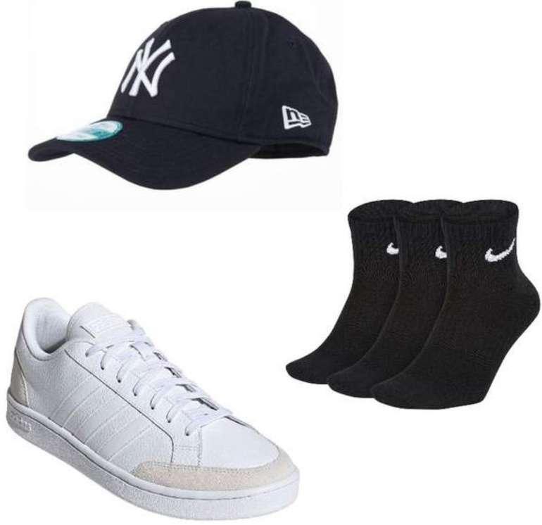 Adidas Grand Court Sneaker + New Era 9Forty MLB Basic New York Yankees Cap + 3er Pack Nike Sneaker Socken für 48,97€