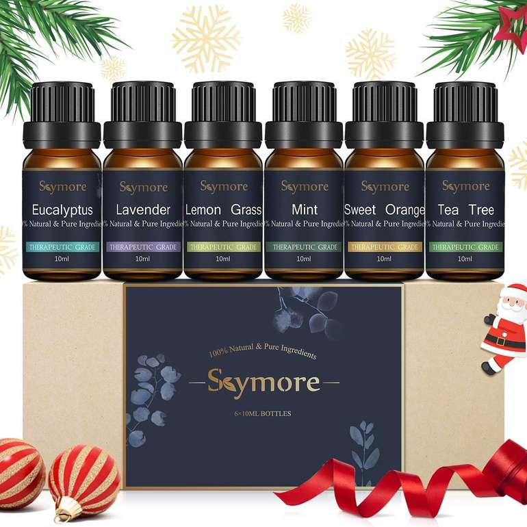 6er Set Skymore Ätherische Öle Set (Zitronengras, Lavendel, Orange, Minze usw.) für 6,59€ inkl. VSK - Prime!