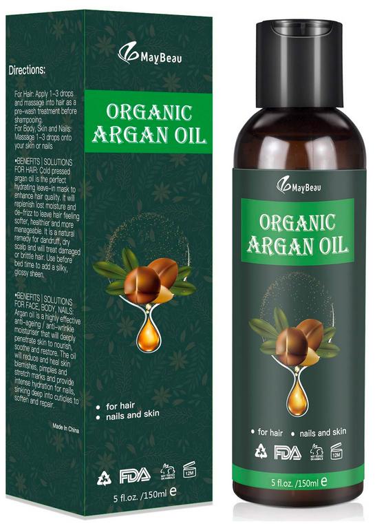MayBeau Bio Arganöl 150ml (kaltgepresst) biologisches Serum für 7,79€ mit Primeversand