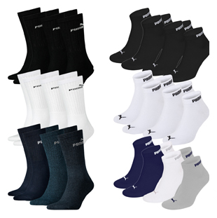 9x Puma Sport Socken + 9x Puma Sneaker Socken (Unisex) für 29,95€ inkl. Versand