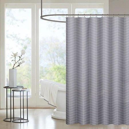 Htovila Duschvorhang 180 x 180 cm mit 12 Duschvorhangringen für 6,30€ - Prime!