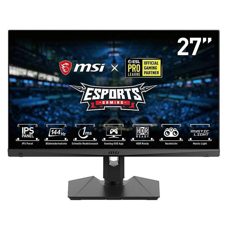 """MSI Optix MAG274RDE - 27"""" Full HD Monitor (DP/HDMI/USB-C, FreeSync, 144Hz, 1ms) für 204,99€ inkl. Versand (statt 223€)"""