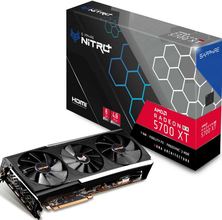 Sapphire Nitro+ Radeon RX 5700 XT 8G 8GB (GDDR6, 2x HDMI, 2x DP) für 395,10€inkl. Versand (statt 434€)