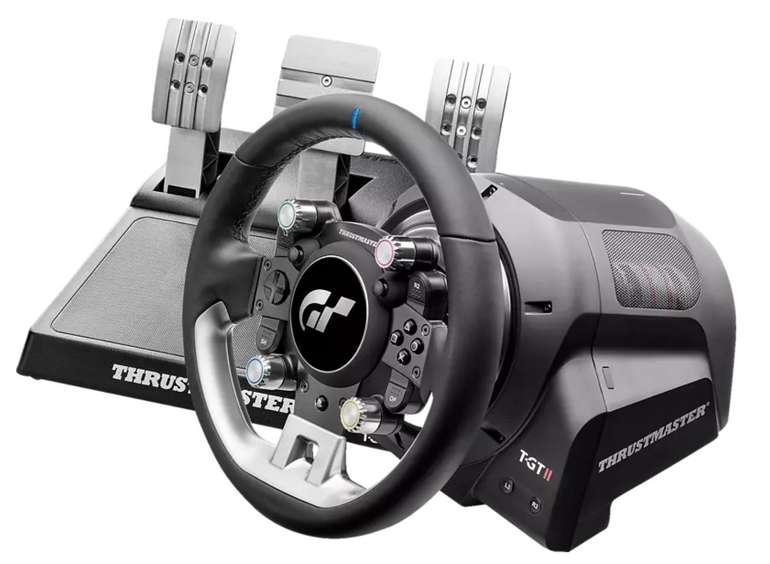 Thrustmaster T-GT II Rennlenkrad mit Set mit 3 Pedalen in Schwarz für 637,49€ inkl. Versand (statt 749€)