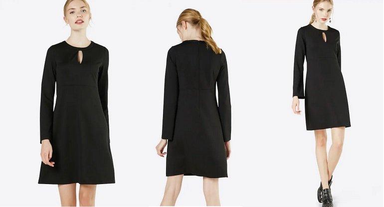 Heine Damen Jerseykleid in schwarz