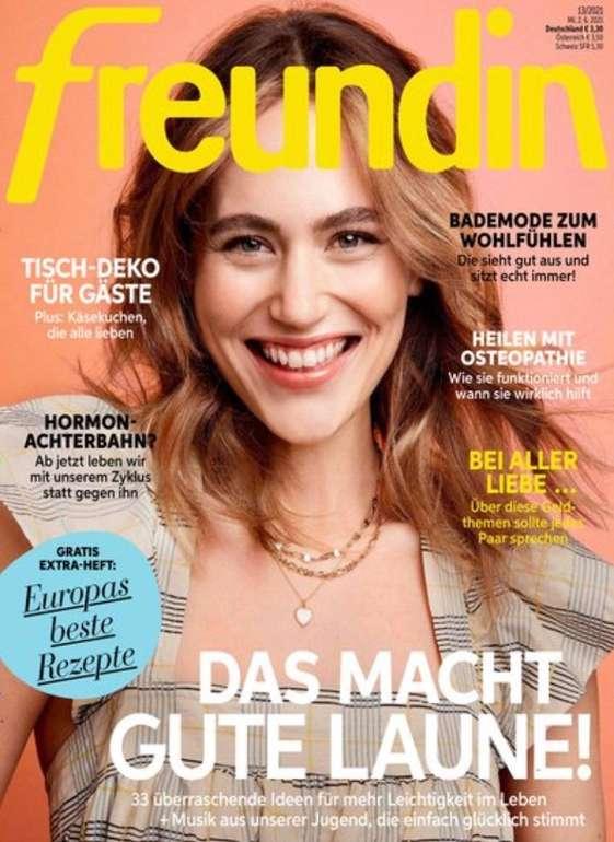 """Halbjahres-Abo der Zeitschrift """"Freundin"""" für 43,20€ + z.B. 35€ Bestchoice Gutschein"""