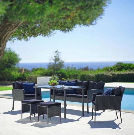 Gartengarnitur Kerstin inkl. Tisch für 249,25€ inkl. Versand (statt 350€)