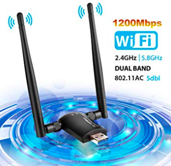 LingWell 1200Mbps Wireless Adapter (5GHz 867Mbps + 2.4GHz 300Mbps) für 15,59€