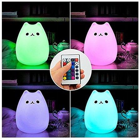 Color You - LED Nachtlicht aus Silikon (Babytauglich) + Fernbedienung für 11,89€
