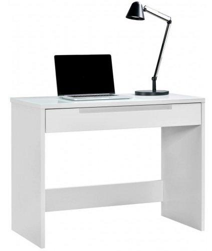 Schreibtisch Mailand in Weiß-Hochglanz (ca. 97x76x50 cm) für 94,99€ inkl. Versand (statt 125€)