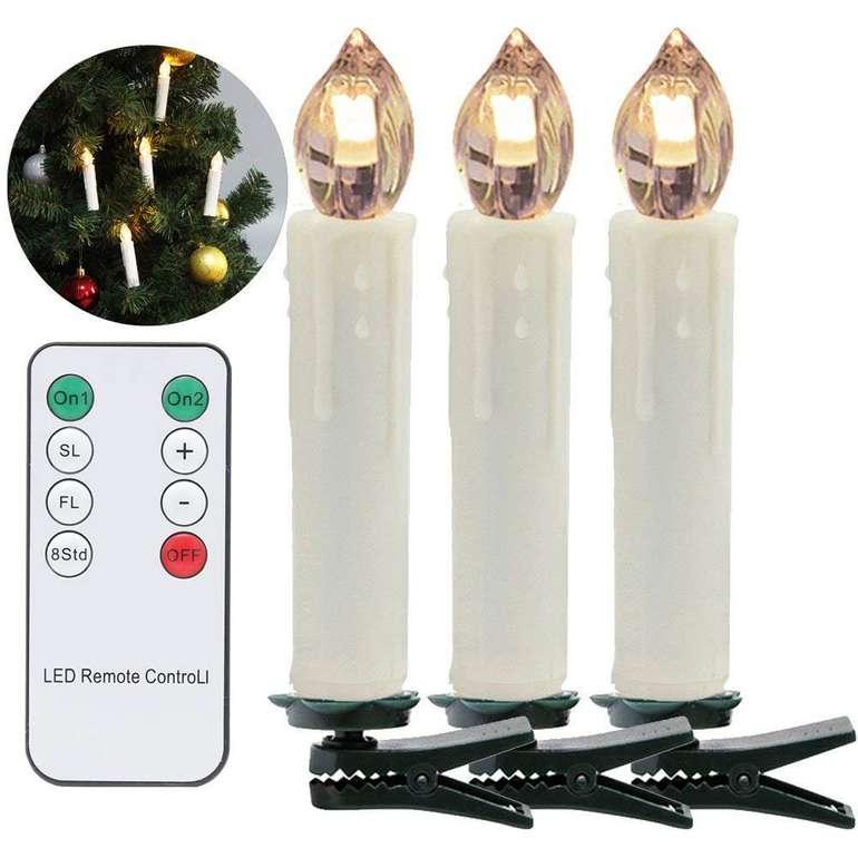 30er Set Vingo LED Weihnachtskerzen Lichterkette für 20,99€ (statt 30€)