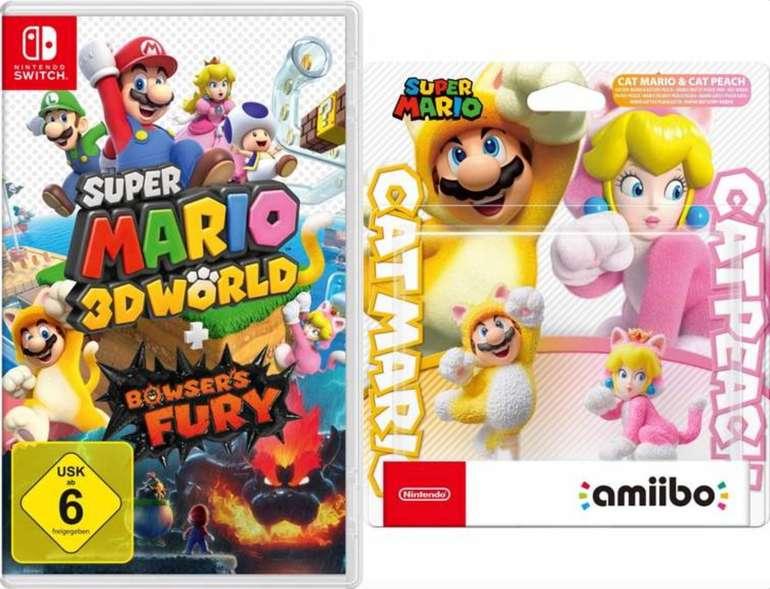 Media Markt Gönn Dir Dienstag Angebote - z.B. Super Mario 3D World [Switch] + Bowser's Fury + amiibo Katzen-Mario für 64,99€