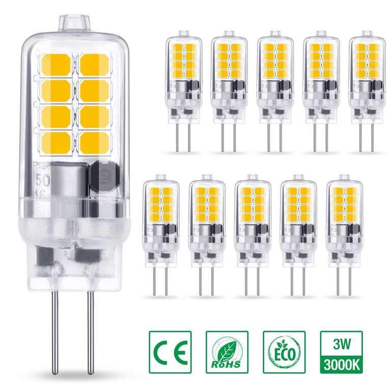 Ambother G4 LED Lampen im 10er Pack (3W, 250 Lumen, 3000K) für 7,49€ inkl. Prime Versand (statt 15€)