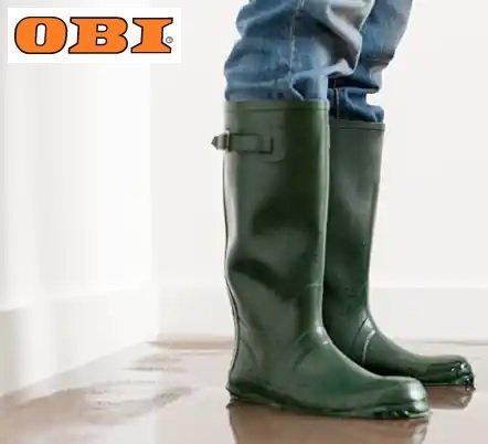 OBI hilft beim Hochwasser: Geräte spenden und Gutschein erhalten