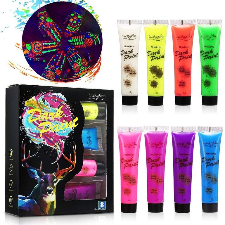 Luckyfine Neon Bodypainting Schminkset (8 Farben je 28ml) für 6,34€ inkl. Prime-Versand