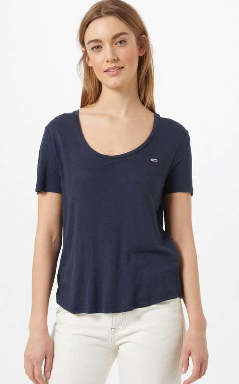 Tommy Jeans Damen Neck Tee T-Shirt in Navy für 17,77€inkl. Versand (statt 23€) - XS, S!