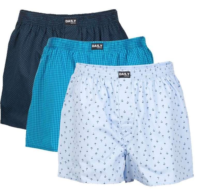 3er Pack DA!LY Underwear Herren Boxershorts für 15,45€ inkl. Versand