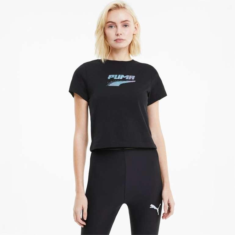Puma Evide Graphic Damen Shirt in 2 Farben für je 11,96€ inkl. Versand (statt 15€)