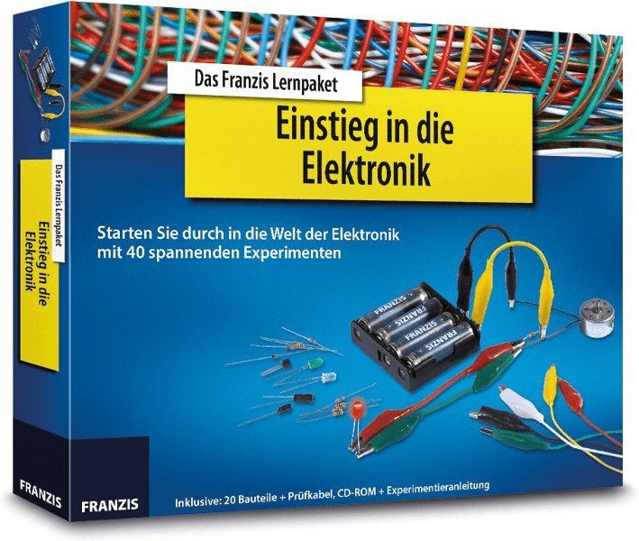 Franzis Lernpaket - Einstieg in die Elektronik (20 Bauteile, Püfkabel, CD ROM & Anleitung) für 14,99€