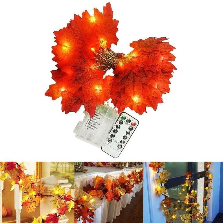 FunPa  - Lichterkette im Herbst-Design (batteriebetrieb) für 6,49€ mit Primeversand (statt 12€)