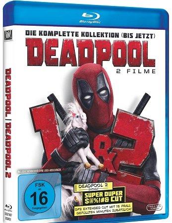 Deadpool 1+2 auf Bluray für 16,20€ inkl. VSK (statt 22€)