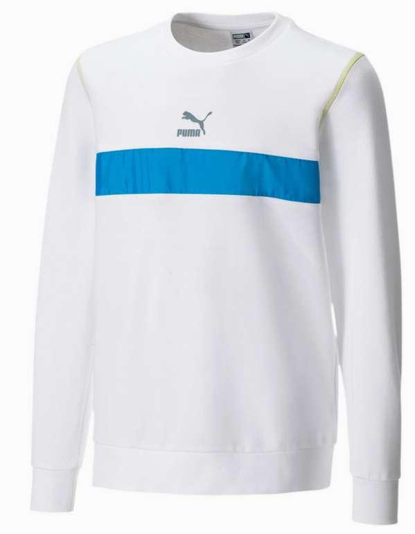 Puma Kinder Sweatshirt mit Rundhals in Weiß/Blau oder Schwarz/Grün für 19,07€ inkl. Versand (statt 30€)