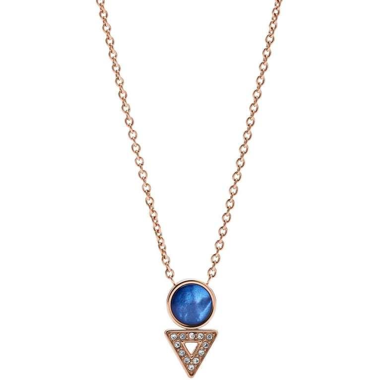 "Fossil Damen Halskette ""Geometric"" (JF03013791) für 19,60€ inkl. Versand (statt 37€)"