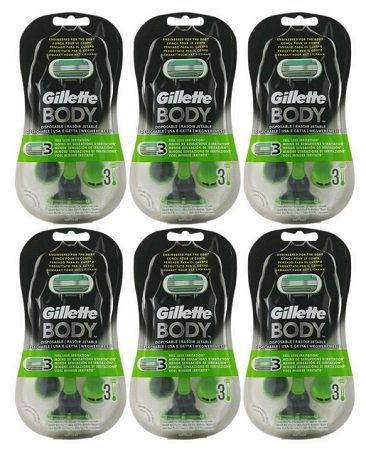 6 x Gillette Body Einwegrasierer mit je 3 Ersatzklingen für nur 22,99€
