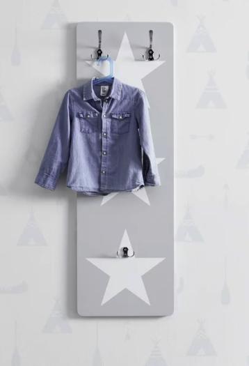 """Bessagi Home Garderobenpaneel """"Arianna"""" in grau-weiß für 33,88€inkl. Versand (statt 45€)"""