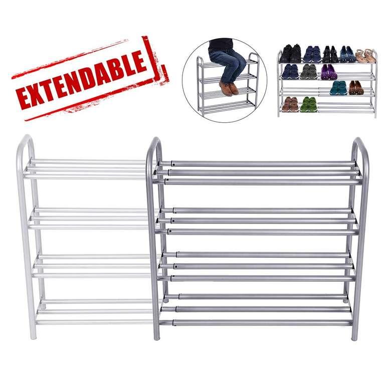 Gemitto - ausziehbares Schuhregal mit 4 Ebenen (Platz für bis zu 20 Paar Schuhe) für 23,99€