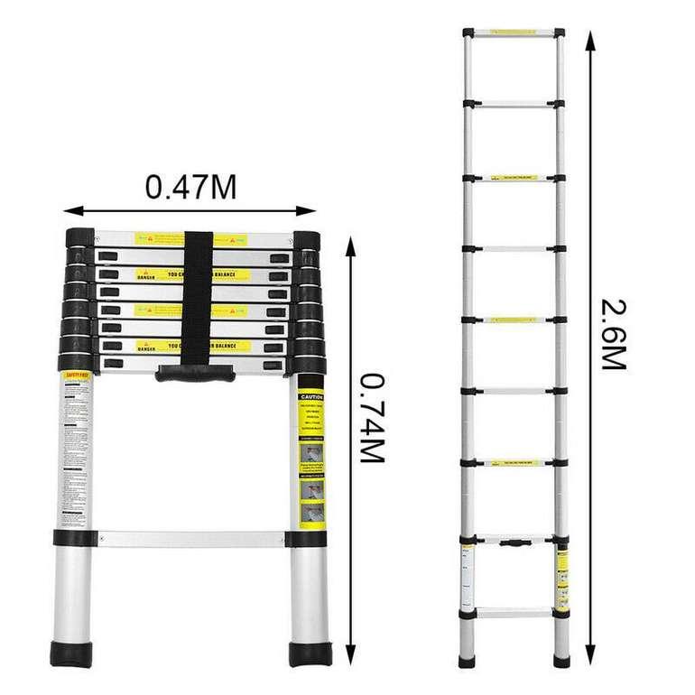 Vingo Teleskopleiter mit 2,6m Länge für 35,99€ inkl. Versand (statt 40€)